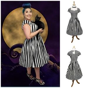 Banned Apparel Beetlejuice Striped Dress